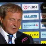 Trénerovi Kozákovi po zbytočnej otázke praskli nervy. Odniesol si to moderátor RTVS