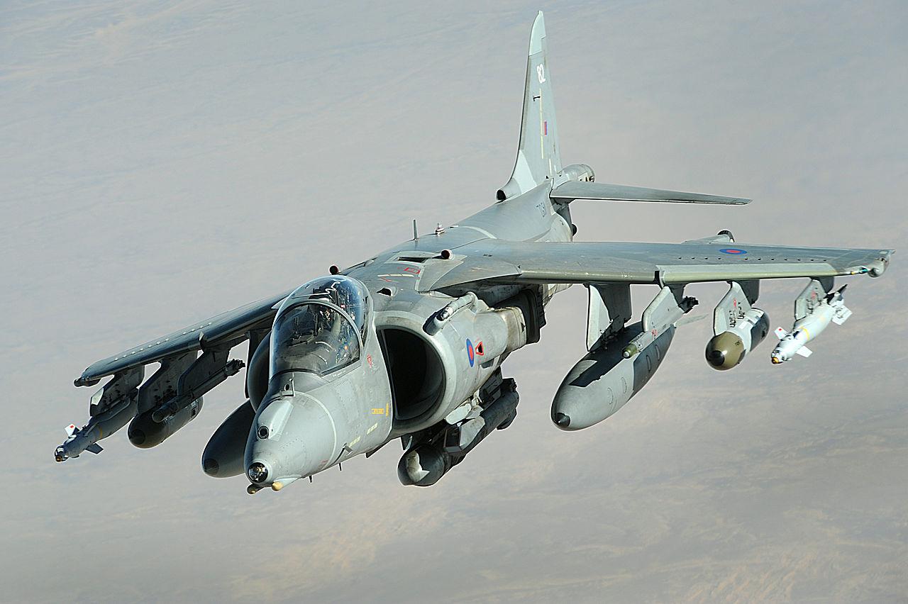 Harrier GR9 / Staff Sgt. Aaron Allmon / wikipedia.org
