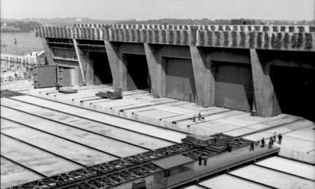 Frankreich, Lorient, U-Bootbunker im Bau