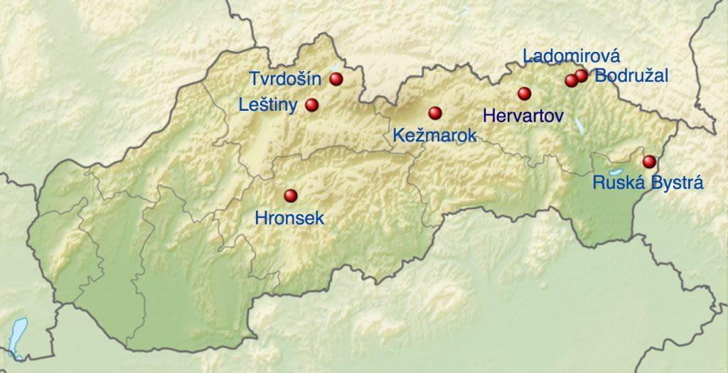 Autor: derivative work Виктор_В – File:Slovakia location map.svg by NordNordWestSRTM30, CC BY-SA 3.0, Odkaz