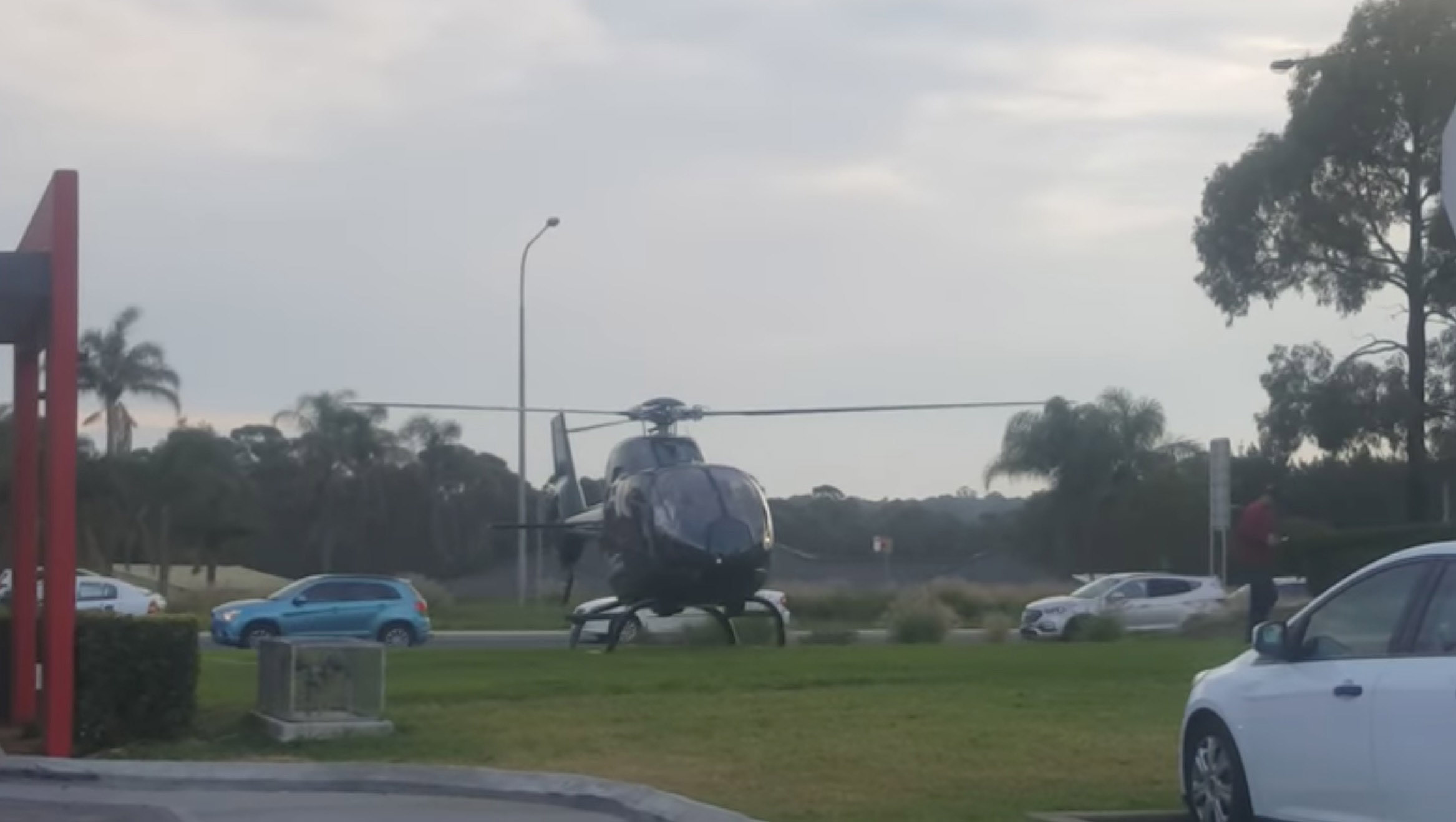 Vrtuľníkom do McDonaldu