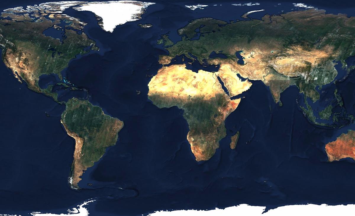 mapa sveta sa satelita Najväčšia fotografia Zeme v rozlíšení 80 biliónov pixelov | TOPdesať mapa sveta sa satelita