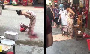žena porodila na ulici