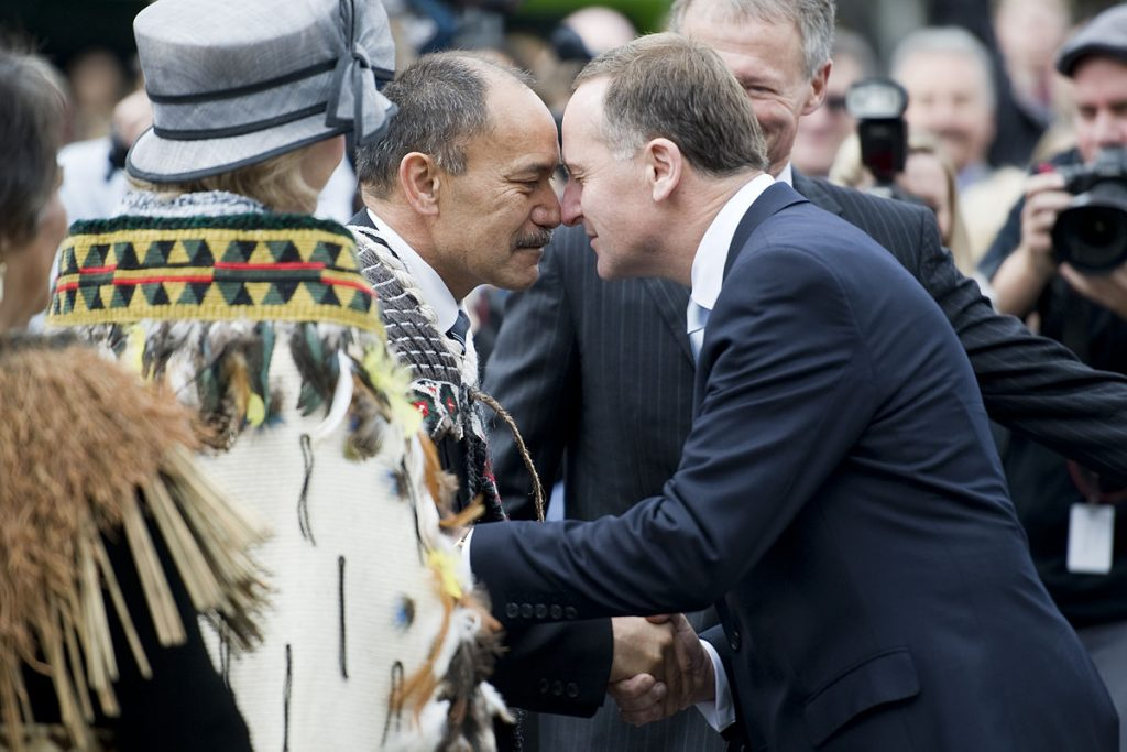 By New Zealand Defence Force from Wellington, New Zealand - Sir Jerry met by the Prime Minister of NZ, Rt Hon John Key, CC BY 2.0, Link