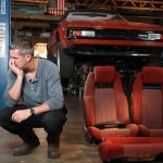 Ant Anstead is with the Supra and the seats are removed.