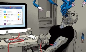 satirické ilustrácie