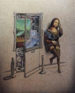 Francúzsky umelec pridáva slávnym obrazom nečakaný temný zvrat