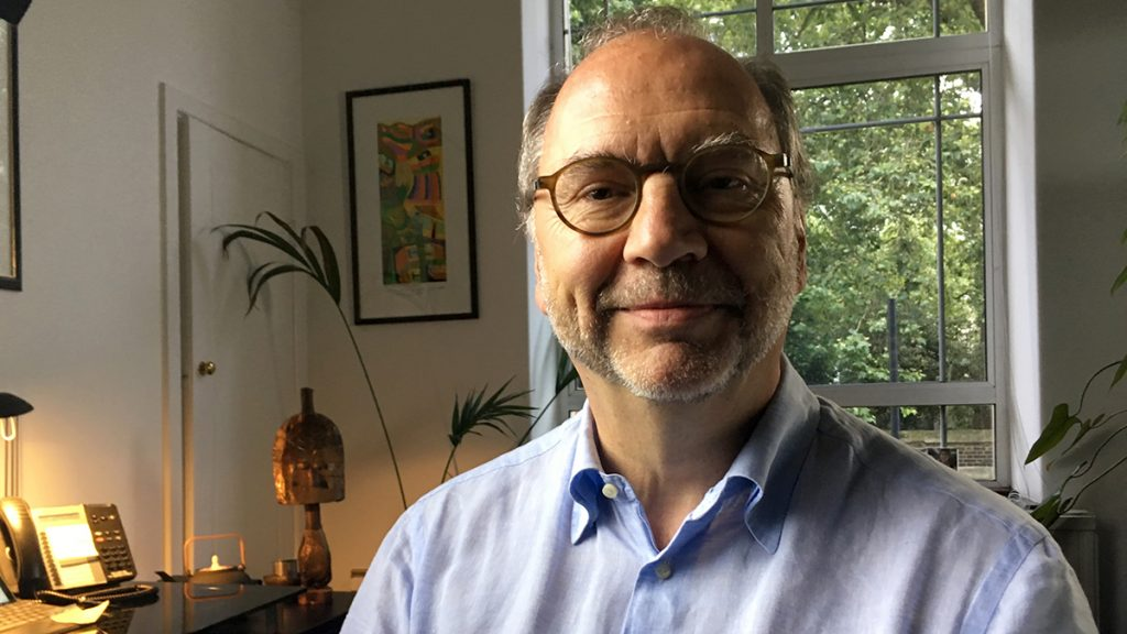 Peter Piot, Director of the London School of Hygience and Tropical Health, co­discoverer of the Ebola virus in Zaire in 1976.