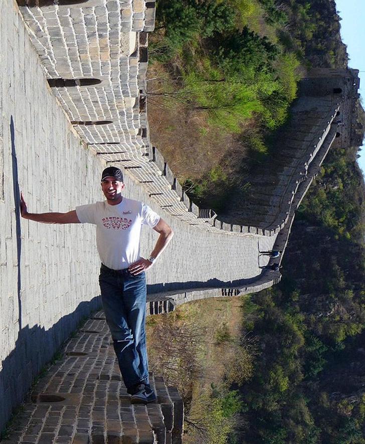 1. Takto vyzerá kreatívna fotografia pri Veľkom čínskom múre!