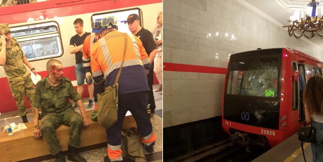 vojak prežil zrážku s metrom