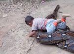 Obrovská anakonda ako ideálny darček pre deti?