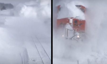 Takto to vyzerá, ak snehová kalamita nepredstavuje pre vlak žiaden problém