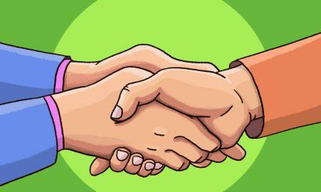 podávania rúk