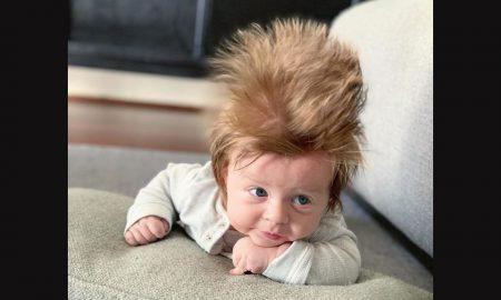 4-mesačné vlasaté bábätko z Austrálie sa stalo hitom internetu