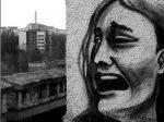 Graffiti v meste duchov neďaleko Černobyľu